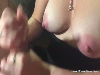 Amateur Große Titten Cumshot